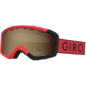 Giro Grade Gogle Dzieci, red/black zoom/amber rose